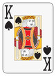 Постер, плакат: Jumbo index king of spades