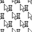 Seamless pattern of pixelated graphics cursor