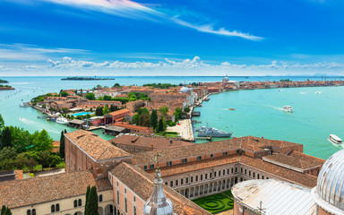 San Giorgio Maggiore and Giudecca islands in Venice, Italy