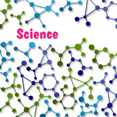 Colorful science background pattern