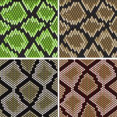 Seamless snake skin patterns