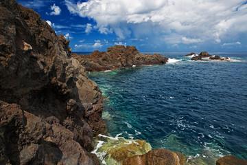Rocky shore of the Atlantic Ocean