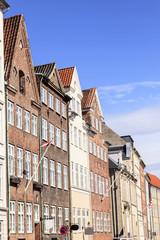 historische Häuserzeile in Kopenhagen.