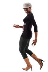 Ballerina nera di breakdance