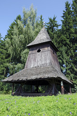 The wooden belfry from Liptov region, Slovakia