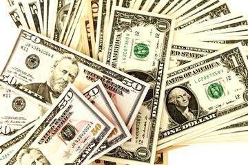 Dollarnoten lose - isoliert