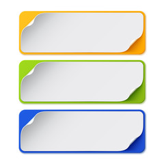 Set of three colorful banners