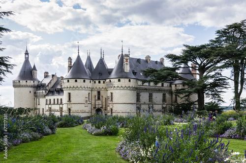 Leinwanddruck Bild Castle of Chaumont sur Loire
