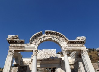 Arch in ancient city of Ephesus in Turkey
