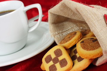 Plätzchen und Kaffee