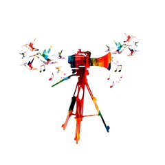 Video camera colorful design