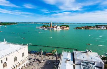 View of San Giorgio island, Grand canal, San Marco, Venice