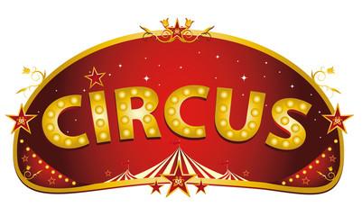 Magic red circus sign