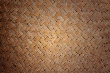 Texture and background of wicker basket