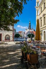 Blick auf den Marktplatz in Zwickau