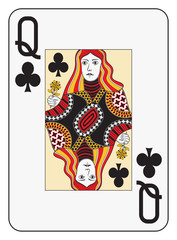 Jumbo index queen of clubs