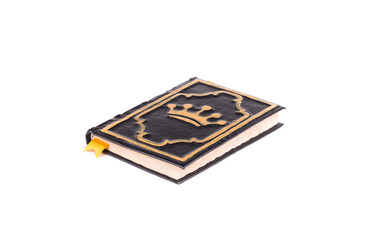 Handmade diary with crown cover.