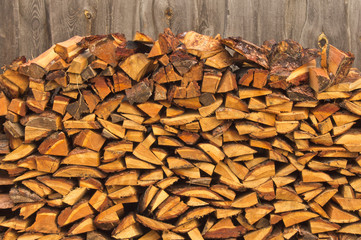 stack of firewood, can be used as background