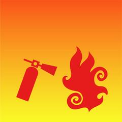 Fire extinguisher background