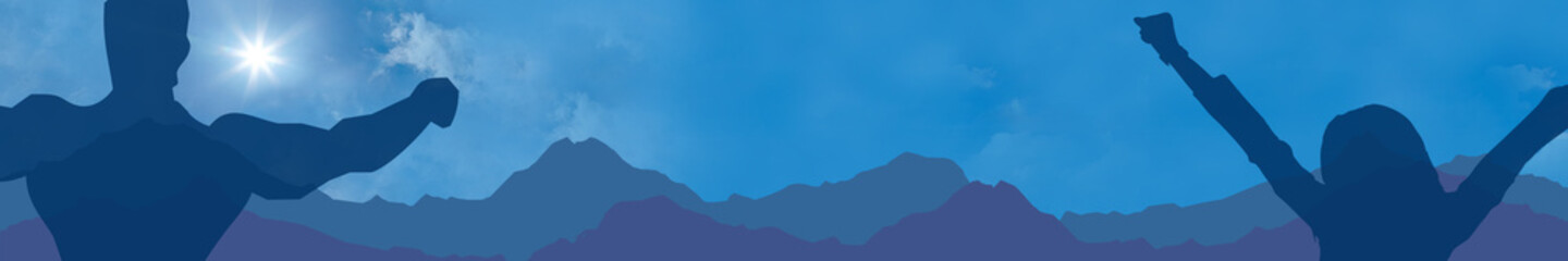 fb1 FitnessBanner - relaxing - mountain backdrop - 6to1 - g1859