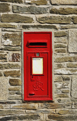 Post box in Newquay - England