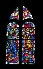 Vitrail église Notre Dame du Cap Lihou, Granville, Cotentin,