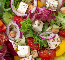 Fresh salad, close-up.