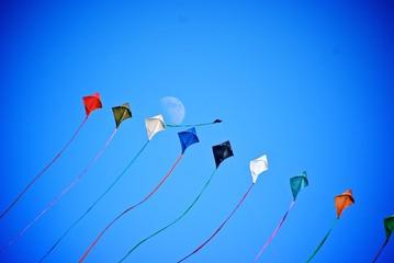 lune et cerf-volant