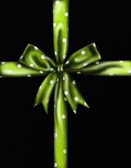 fiocco verde su sfondo nero
