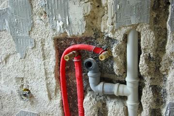 Wasserleitung Baustelle