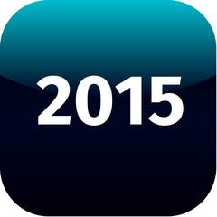year 2015 blue icon