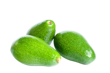 Avocado isolated with clipping path
