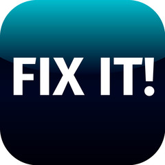 blue icon with the words Fix It