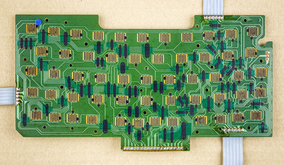 printed circuit board of a computers keyboard