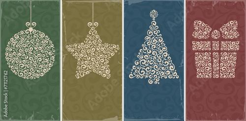 Naklejka Christmas backgrounds