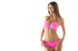 canvas print picture - Attractive girl in a bikini