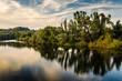 canvas print picture - Herbstliche Flusslandschaft bei Muehlheim Ruhr