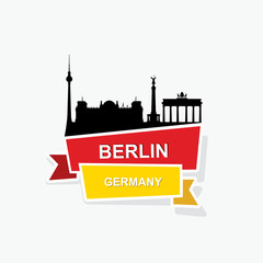 Berlin ribbon banner