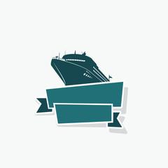 Cruise ship ribbon banner