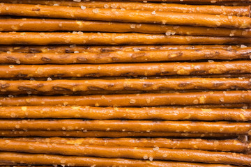 Salty Snack Sticks Close Up