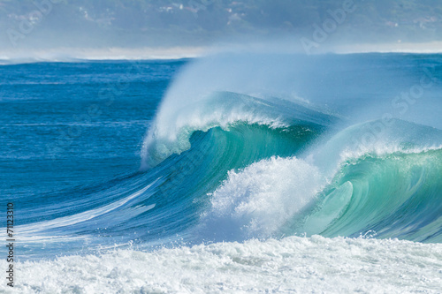 Poster Water Ocean Waves Scenic Color