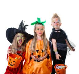 halloween kids white background