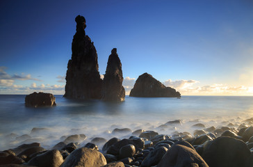 Atlantic Ocean and the Madeira coast.