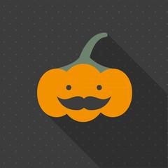 Minimal Halloween background. Pumpkin. Flat design
