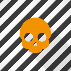 Minimal Halloween background. Skull