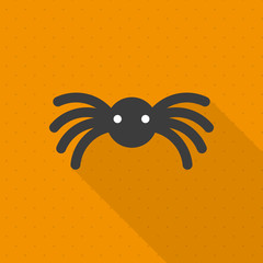 Minimal Halloween background. Spider. Flat design