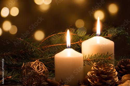 Christmas candles and lights - 71125958