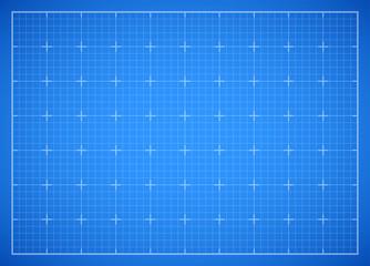 Blue square grid blueprint