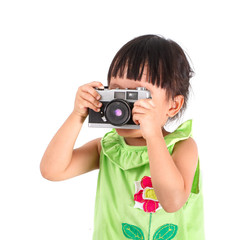 Little asian girl take a photo
