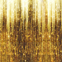 Gold Shooting Stars on abstract dark background